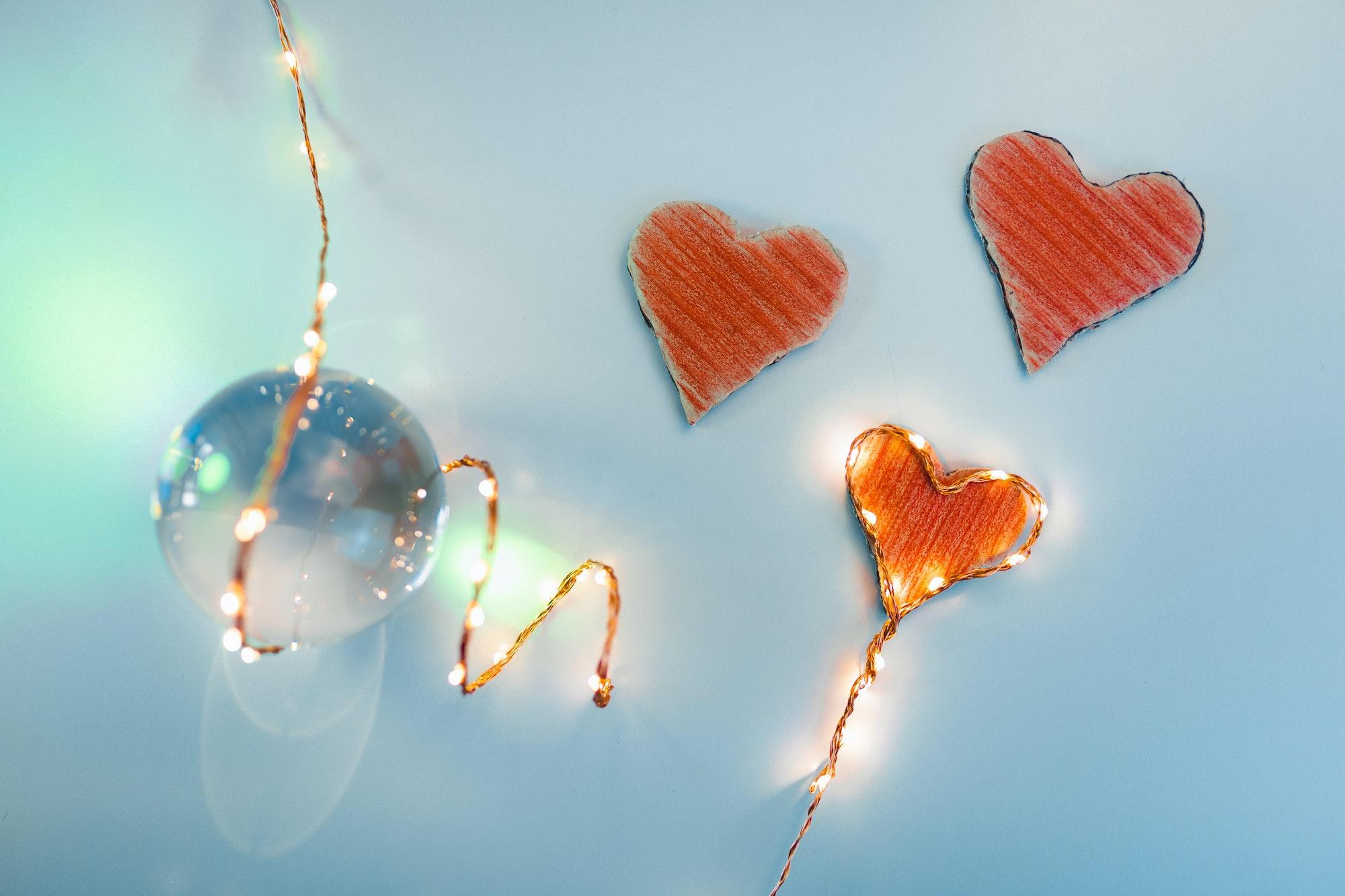 Valentine's Day Background in Covid Period
